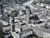 Beautiful cityscape of Salzburg, Austria — Stock Photo