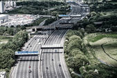 London. Interstate as seen from the plane — Stock Photo