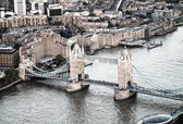 The Tower Bridge magnificence, aerial view of London — Stock Photo
