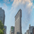 Постер, плакат: NEW YORK APRIL 29 : Flat Iron building facade on April 29 201