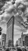 NEW YORK - APR 29: Flat Iron building facade on April 29, 2011.  — Stock Photo