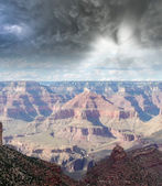 Cloudy sky over Grand Canyon Mountains, USA — Stock Photo