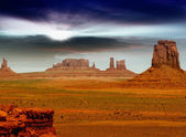 Monument Valley, desert canyon in USA — Stock Photo