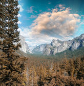 Wonderful National Park scenario. Mountain landscape with trees  — Stock Photo