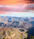 Afternoon lights of Grand Canyon, Arizona, USA — Stock Photo