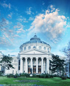 Atheneul Roman. Romanian Athenaeum is a concert hall in the cent — Stock Photo