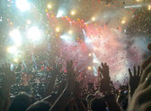 A crowd of people at a concert — Stock Photo