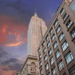 Dramatic Sky over New York City Skyscrapers — Stock Photo