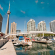 View of Toronto from a Pier, Canada — Stock Photo #49552859
