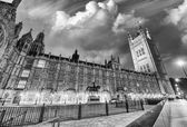 Palace of Westminster at sunset, London. Houses of Parliament -  — Stock Photo