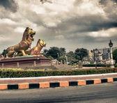 Famous Phnom Penh Square, Cambodia — Stock Photo