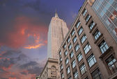 Dramatic Sky over New York City Skyscrapers — Stock Photo