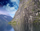 Nature of Geiranger Fjord — Stock Photo
