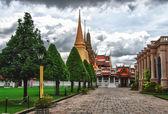 Dettaglio di un tempio in thailandia a bangkok — Foto Stock