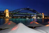 Evening approaching Sydney Harbour — Stock Photo