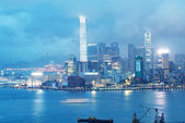 KOWLOON, HONG KONG - APRIL 22, 2014: View of Kowloon night skyli — Stock Photo