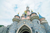 Castle of Disneyland Park in Paris — Stock Photo