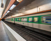 Speeding train blur, France — Stock Photo