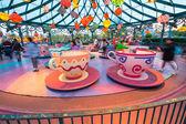 Cups attraction in Disneyland Park — Stock Photo