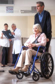 Senior woman on the wheelchair — Stock Photo