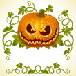 Pumpkin Jack vintage pattern — Stock Vector