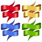 Vector Ribbons set. — Stock Vector