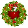 Christmas garland vector frame - Stock Vector