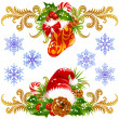 Christmas design elements set — Stock vektor