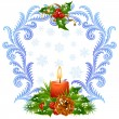 Christmas and New Year greeting card — Vector de stock  #15300751