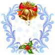 Christmas and New Year greeting card — Vector de stock  #15300759
