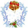 Christmas and New Year greeting card — 图库矢量图片