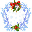 Christmas and New Year greeting card 6. Mistletoe and holly — Stock Vector #15717983