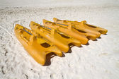 Orange Paddle Boats — Stockfoto