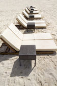 Row of Beach Loungers — Stock Photo