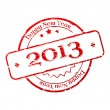 New year 2013 stamp — Stock Vector