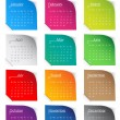 colorful 2013 calendar — Stock Vector