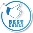Vector best choice label — Wektor stockowy #32801013