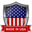 Made in USA. Glossy label — Stock Vector