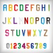 Vector Paper Alphabet Set — Vettoriale Stock