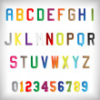 Stock Vector: Vector Paper Alphabet Set