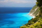 Lefkada cliffs and blue sea waters — Stock Photo