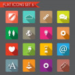 Web and internet flat icons — Stock Vector