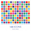 130 Web Icons — Stock Vector
