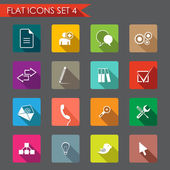 Web and office flat icons — Stock Vector