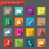 Financial and business flat icons — Stock Vector