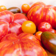 Heirloom tomato cultivars - Stock Photo