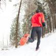 Winter-Trail-Läufer — Stockfoto