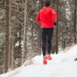 Winter trail running — Foto de Stock