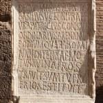 Ancient roman epigraph — Stock Photo