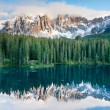 Karersee, lake in the Dolomites in South Tyrol, Italy. — Stock Photo